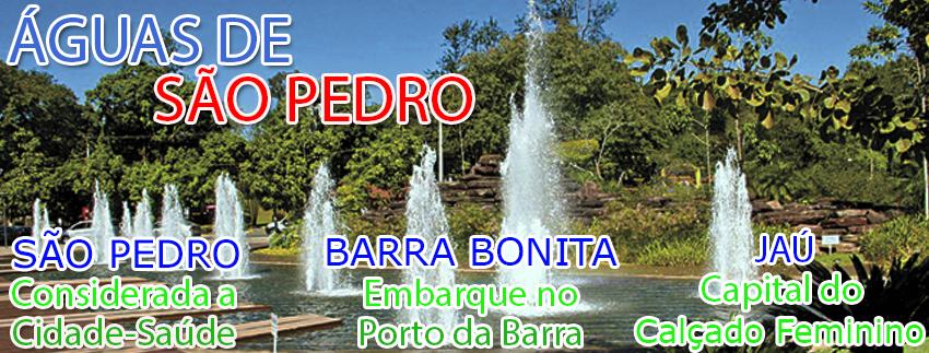 Águas de São Pedro, Barra Bonita e Jaú