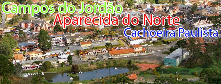 Campos do Jordão com Aparecida do Norte e Cachoeira Paulista